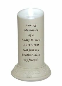 NEW FUNEERAL FLICKERING MEMORIAL CANDLE KEEPSAKE TRIBUTE REMEMBRANCE PLAQUE