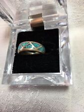 Vintage Turquoise band ring, size 6