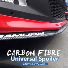 Viture Universel 2.5m Fibre de Carbone Caoutchouc Ailes Spoiler Tuning Styling