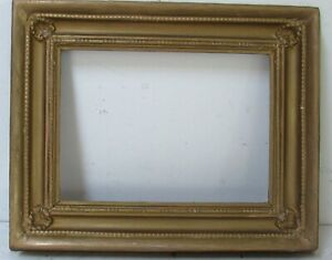 VINTAGE WOOD FRAME FOR PAINTING  9  3 /4  X  7 INCH OUTSIDE 14 X 11 INCH
