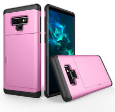 For Samsung Galaxy Note 9, Shockproof Hybrid Armor Card Slot TPU Hard Case Cover
