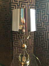 NEOCLASSICAL French LAMP Chrome Gilded ARROWS Maison CHARLES JANSEN Style 1970