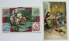 Advertising Cards: STAPLER CRACKERS - German Mail in SW Africa & Red Riding Hood
