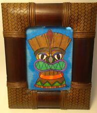 Tiki Art Painting Signed Framed