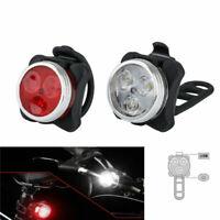 USB Wiederaufladbare LED Fahrrad Licht Vorne Hinten Rücklicht Set Fahrradlampe.