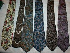 6 ties Italian silk tie bold patterns Raphael Principe Gino Pompeii Italy lot 5