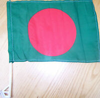 Bangladesh Car Flag With Unbreakable Stick 12'x16'