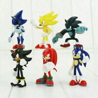 6PCS Sega Sonic The Hedgehog 2 Action Figure Collection PVC Toy Kids Gifts