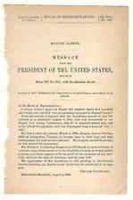 President Grover Cleveland Re: Manuel Garcia Disability Pension Request