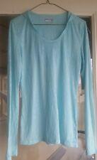 Marmot Shirt Aqua Semi Sheer burnout Long Sleeve hooded Womens Size Medium