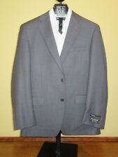 $1295 new Jos A Bank Signature Gold grey check pattern suit 43 L 37 W
