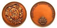 Medaglia Ordine Dei Medici Di Modena (S. Johnson) Bronzo Diametro cm 4,3 g. 28,8