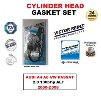 VICTOR REINZ HEAD GASKET SET for AUDI A4 A6 VW PASSAT 2.0 130bhp ALT 2000-2008