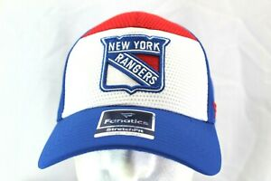 New York Rangers NHL Blue/Red/White Baseball Cap Stretch Fit L/XL