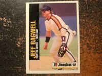 Jeff Bagwell Astros 1992 Jimmy Dean RARE HAND CUT POSTER PROOF CARD #3