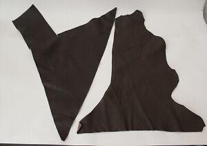 Leather scraps Brown Italian lot Remnants pieces hides sheep goat lampskin