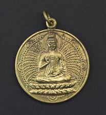 Médaille Pendentif Amulette thaï Bouddha Bagua Talisman feng Shui laiton 1671