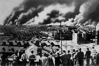Shanghai residents look at smoke from downtown fires after J WW2 photo 4x6 #1518