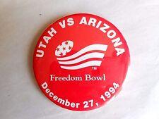 Vintage 1994 Freedom Bowl Football Game Utah vs Arizona Pinback Button