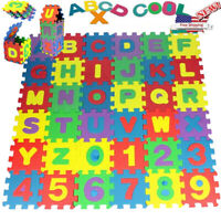 60Pcs EVA Foam Russian Alphabet Letters Numbers Floor Baby Mat Learn toy~EW