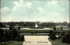 Herning Jutland vieille carte postale ~ 1910/20 søndre Anlæg Lot dans le parc installations