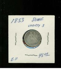 1853 USA Dime 10 cent coin variety