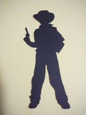 scrapbooking embellishment black cowboy