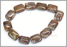 12 Red Pietersite Flat Rectangle Beads 12x16mm  #77032