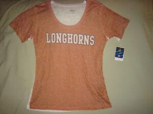 TEXAS LONGHORNS SHORT SLEEVE SHIRT SLIM FIT WOMEN'S XL X LARGE HOOK EM HORNS