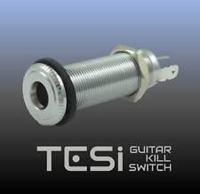 Tesi Premium Stereo Output Barrel Jack for Guitar or Bass - Chrome