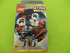 LEGO *NEW* 3342 Star Wars Chewbacca and 2 Biker Scouts 2000 Great Sealed Box