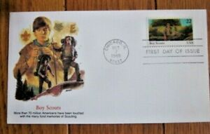 BOY SCOUTS OF AMERICA   YOUTH YEAR 1985 FLEETWOOD  CACHET FDC VF UNADDR