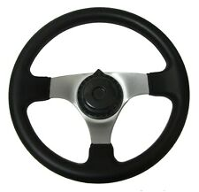 "12"" Steering Wheel w/ Cap for Go Kart Asw Carter Hammerhead Trailmaster Parts"