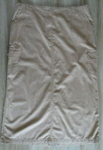 MARKS AND SPENCER long cotton beige cargo skirt size 20
