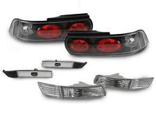 COMBO Black Tail+Clear Signal+Side Marker Lights For 91-95 Toyota MR2 MR-2 SW20
