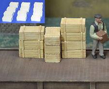 O Wood Crates Plaster 12pcs On3, S, 1/48 1/35 Produits MP diorama caisse #0013
