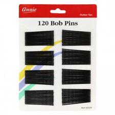 """ANNIE 120 PCS BOB PINS 2"""" BLACK #3339 CRIMPED & BALL TIPPED"""