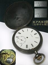 vintage Antique Pocket Watch В. Габю V. Gabyu Russian Empire