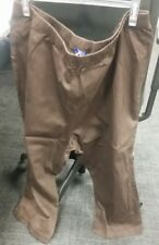 BNWT Ladies Size 30 Union Blues Brown Cropped Elasticated Waist Trousers