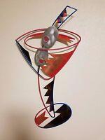 Abstract Modern Metal Wall Art Sculpture Wall Hang MultiColor Iron Decor Hanging