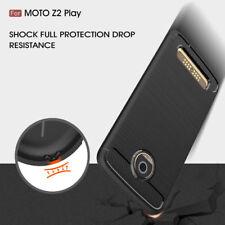 HQ Carbon Fiber Slim TPU Cover Case For Motorola Moto Z2 play Verizon XT1710-02