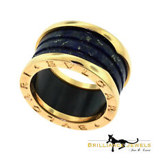 BVLGARI BULGARI B.zero1 Lapis Lazuli Four - Band Rose Gold Ring, Size 52 (B-4)