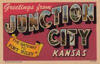 Postcard Greetings From Junction City Kansas KS