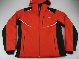 Mens XL 54 KJUS Dermizax EV Recco Primaloft orange snowboarding ski jacket