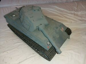 Tamiya King Tiger r/c Tank Vintage upgraded tracks and gearboxes