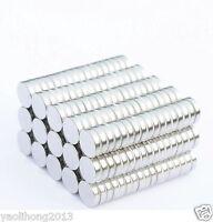 100pcs Tiny Disc 2X1mm Neodymium N50 Rare Earth Strong Magnets Craft Models