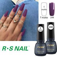 2PCS RS Nail Gel Nail Polish LED UV Gel Colour Purple 5ml +Matte Top Coat 5ml