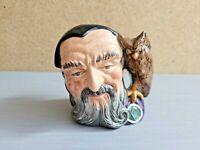 "Vintage 1959 Royal Doulton Merlin with Owl D6536 Jug Mug Cup Figurine 4"" England"