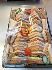 Catering Trays - 5 x Buffet Platter Trays with Lids - Large - 450mm x 300mm appx