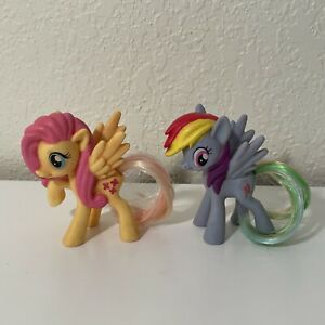 My Little Pony Lot of 2 - Fluttershy, Rainbow Dash Plastic Mane Hair for Tail
